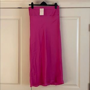 Free people stain pink skirt